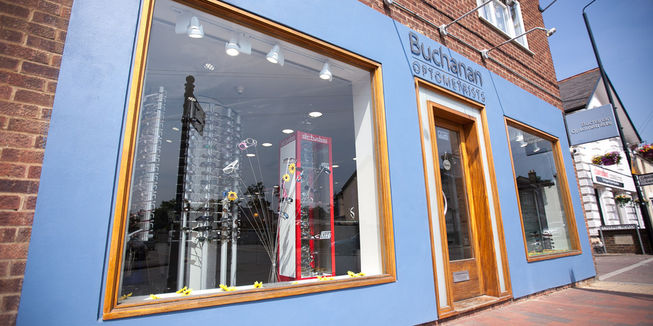 Buchanan Optometrists Kent Shopfront