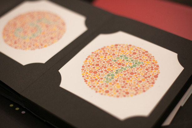 Color vision test/examination using Ishihara test for colour deficiency at opticians Buchanan Optometrists, Kent