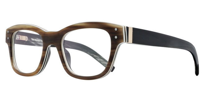 Mens brown Tom Davis spectacle  frames