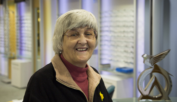 Mrs Elizabeth Woodger in her new individualised Hoya MyStyle V+ Varifocals from award winning optician Buchanan Optometrists, Kent
